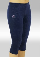 Capri pants blue smooth velvet K754ma