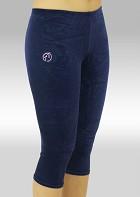 Capri pants blue smooth velvet K754ma