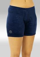 Legging short blue smooth velvet K756ma