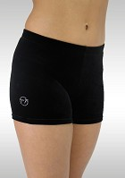 Legging short black smooth velvet K756zw