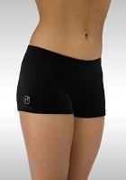 Legging short black smooth velvet K758zw