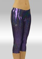 Legging 3/4 long in glittering Violet Wetlook W754475