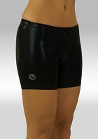 Legging short Black Wetlook W756zw